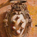 Oleo sobre tabla, detalle, obra de Juan Adriansens.