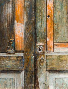 Oleo sobre tabla, obra de Juan Adriansens. 27 x 35 cm.