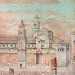Lápices de colores, obra de Juan Adriansens. 22,5 x 27 cm.