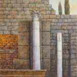 Oleo sobre tabla, obra de Juan Adriansens. 26,5 x 40,5 cm.