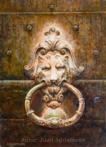 Oleo sobre tabla, obra de Juan Adriansens. 33 x 45,5 cm.