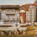 Oleo sobre tabla, obra de Juan Adriansens. 40,8 x 32,5 cm.