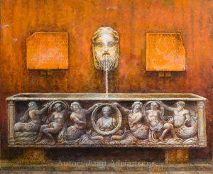 Oleo sobre tabla, obra de Juan Adriansens. 47,5 x 39 cm.